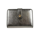 Alexander McQueen Coin Purse Silver Leather