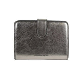 Alexander McQueen Coin Purse Silver Leather - Back Look