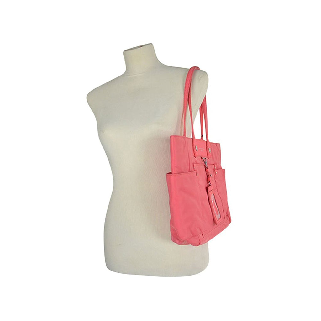 MARC by Marc Jacobs Preppy Nylon Clara East-West Tote Bag - Bright Coral M0003282 - LUX LAIR