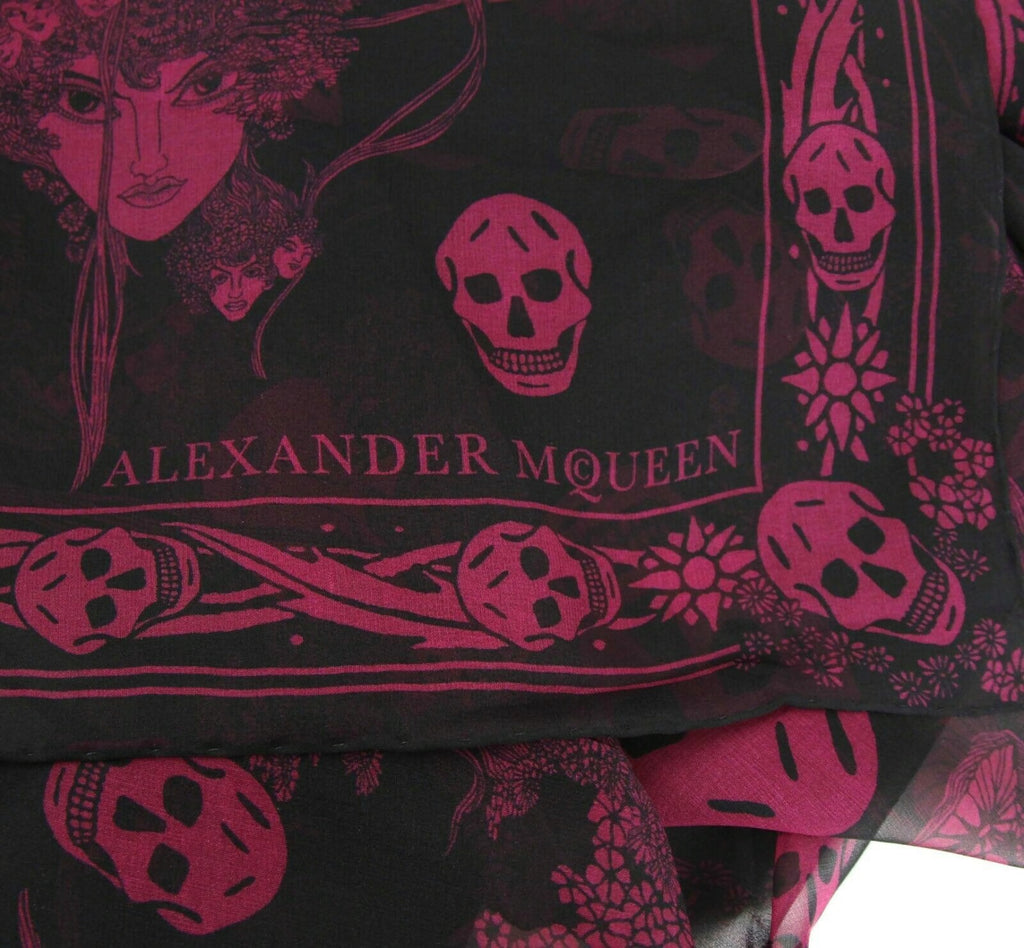 Alexander McQueen Scarf Silk - Light Purple Color