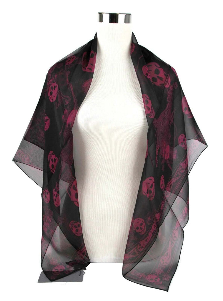 Alexander McQueen Scarf Silk Multiskull - Two Colored