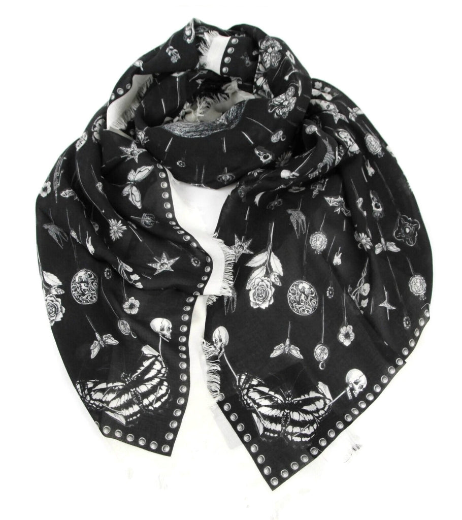 Alexander McQueen Shawl Ivory With Heirloom Pins
