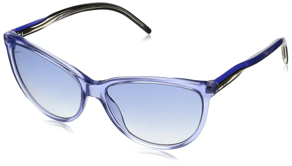 Gucci Women's Blue Plastic Cat Eye Sunglasses G GG 3641/S 0XACG 343657 - LUX LAIR