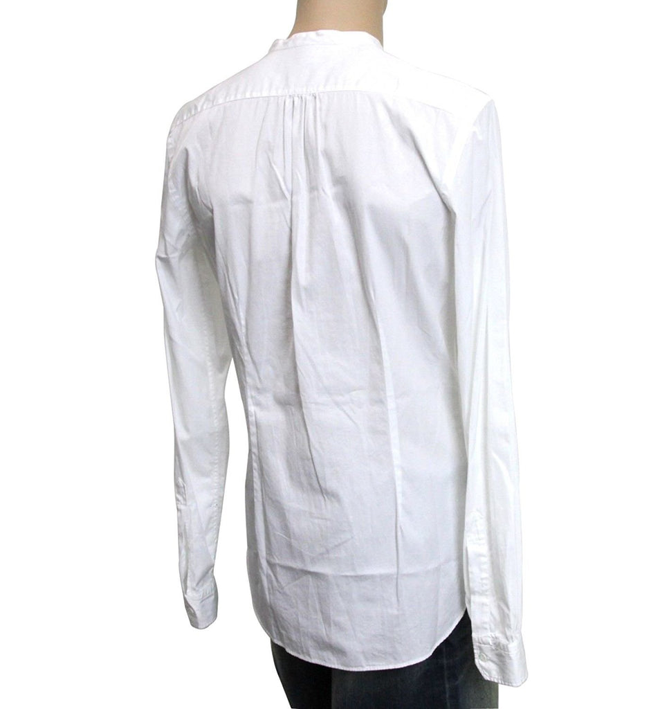 Gucci Men's White Cotton Banded Skinny Shirt 295145