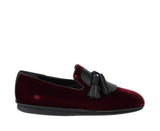 Salvatore Ferragamo Men's Dark Red Finnegan Velvet Tassel Loafer 656327 - LUX LAIR