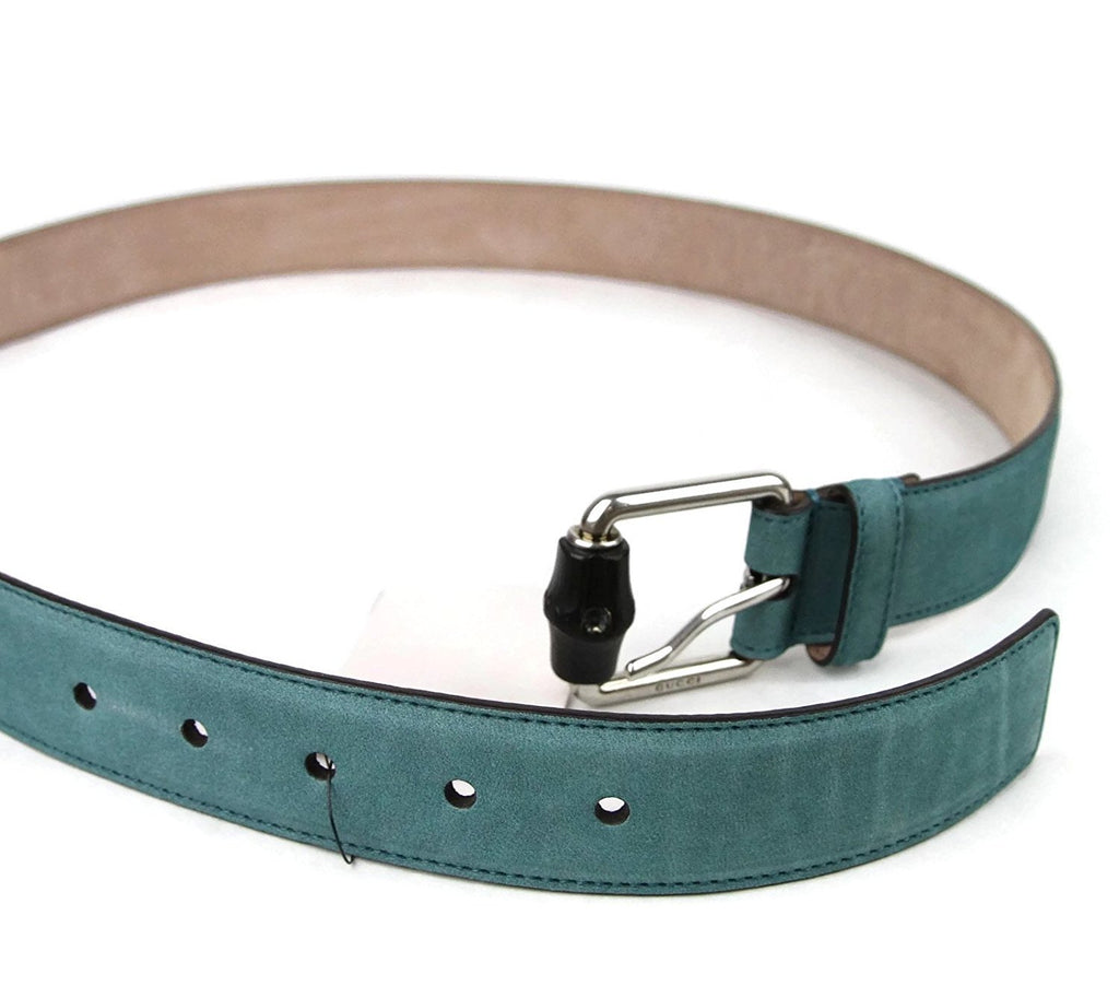 Gucci Men's Leather Suede Bamboo Buckle Belt 336827 - LUX LAIR