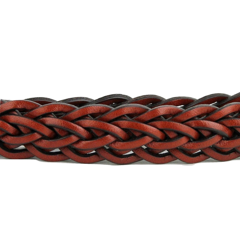 Gucci Belt Women Leather Red Skinny Braided - Braid Close Up