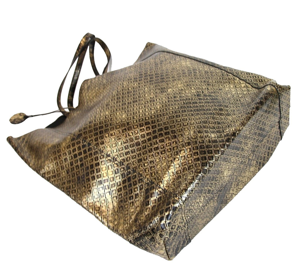 Bottega Veneta Tote Bag Gold Leather - Elegant Style