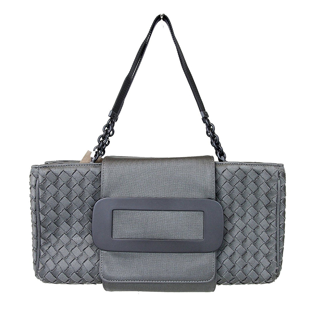 Bottega Veneta Women's Gray Fabric Intrecciato Evening Tote Bag 309348 1300