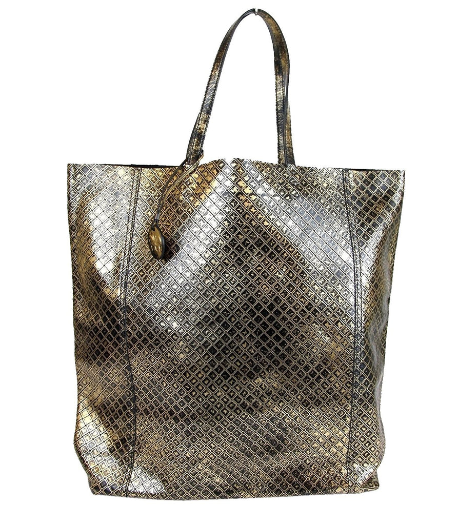 Bottega Veneta Tote Bag Gold Intrecciomirage Leather