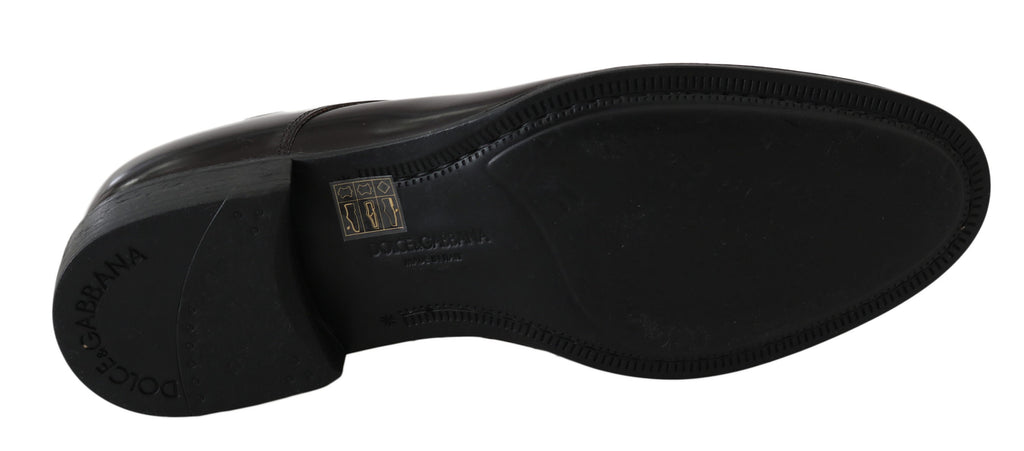 Dolce & Gabbana Brown Suede Marsala Derby Studded Men's Shoes