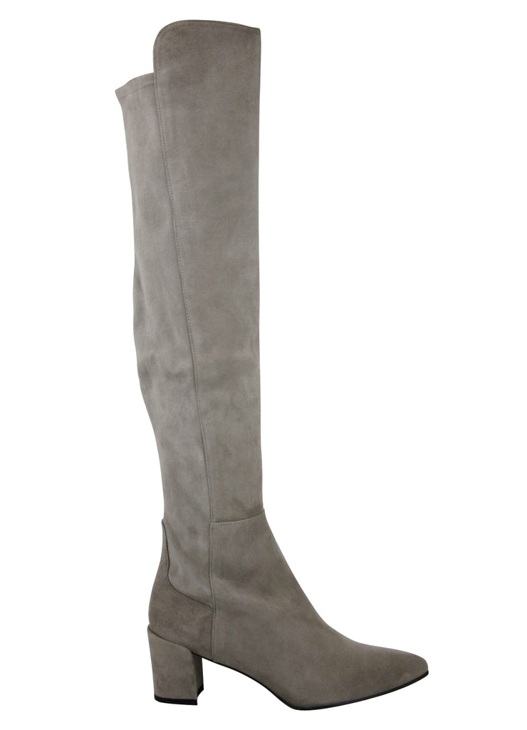 Stuart Weitzman Women's Allwayhunk Taupe Suede Over-The-Knee Boot