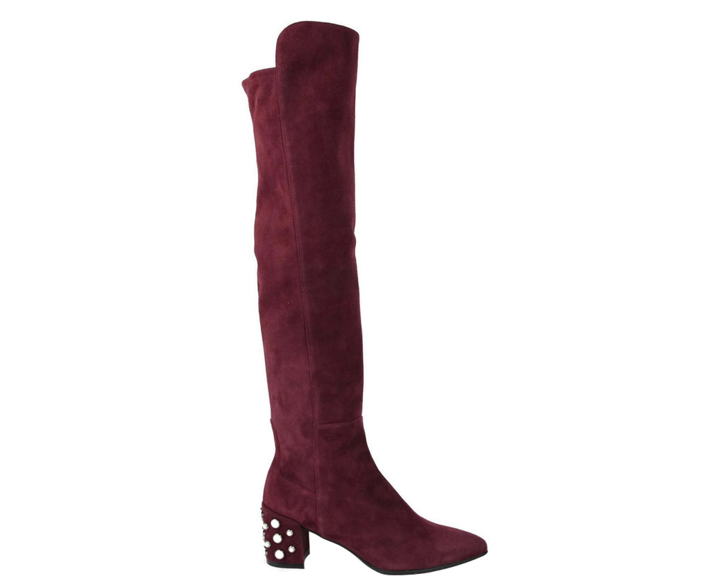 Stuart Weitzman Women's Bordeaux Suede Knee High Boot - LUX LAIR