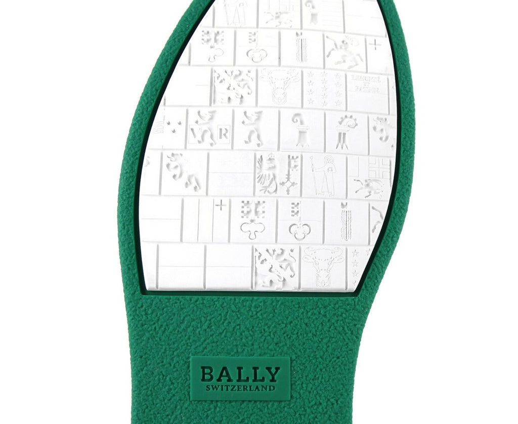 Bally Men's Alpistar Nappa Leather Animal Collection Hi-Top Sneakers Dark Emerald Green 59400