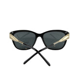 Burberry Women's Golden Accent Black Plastic Cat Eye Sunglasses 4203 3001/87 - LUX LAIR