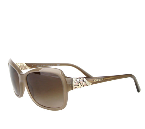 Bvlgari Women's Flower Crystal Raspberry Plastic Oversized Round Sunglasses 8171-B 5380/8H