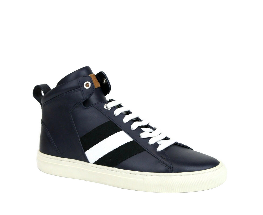 Bally Hi-top Sneakers Dark Blue Leather For Men