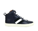 Bally Hi-top Sneakers Dark Blue Calf Leather