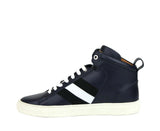 Bally Hi-top Sneakers Dark Blue Leather - Lace Ups