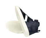 Bally Hi-top Sneakers Dark Blue Leather - Rubber Sole