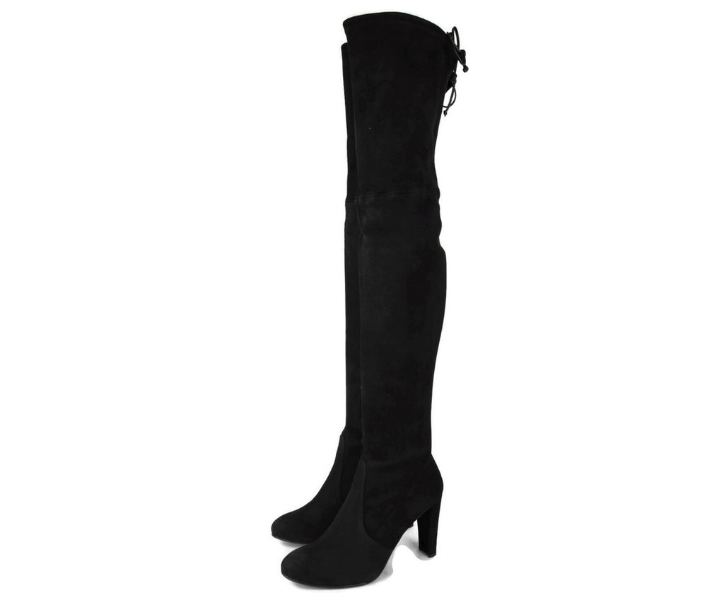 Stuart Weitzman Highland Black Suede Over-the-knee Boot - LUX LAIR
