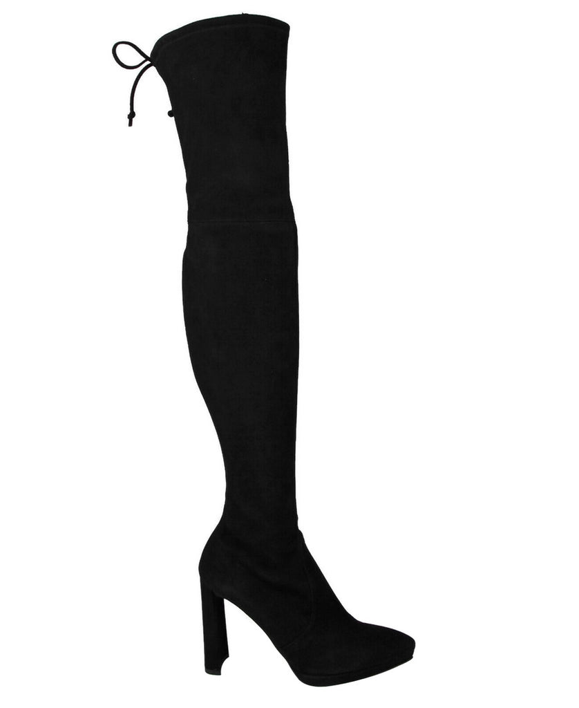 Stuart Weitzman Women's Black Suede Thigh High Pull Up Over-The-Knee Boots - LUX LAIR