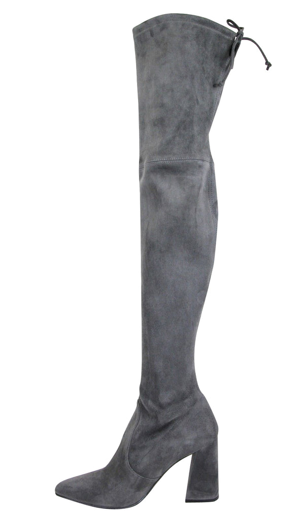 Stuart Weitzman Women's Suede Highstreet Chunky-Heel Over-The-Knee Boot Slate