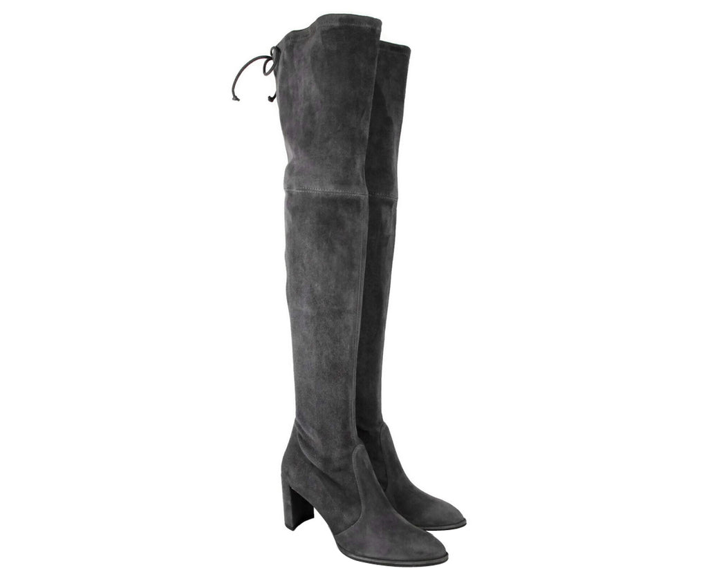 Stuart Weitzman Women's Landmark Slate Suede Over-the-knee Boot