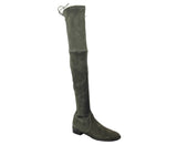 Stuart Weitzman Women's Loden Green Suede Lowland Over The Knee Boot