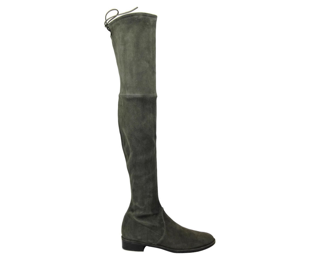 Stuart Weitzman Women's Loden Green Suede Lowland Over The Knee Boot - LUX LAIR