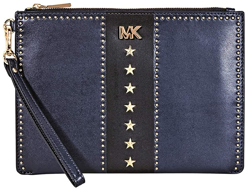 Michael Kors Medium Zip Pouch Leather - Front Look