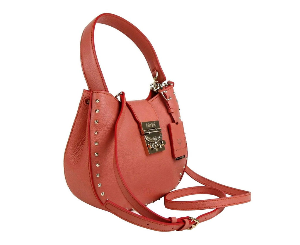 MCM Women's Trisha Cocoa Pink Leather Studded Small Crossbody Bag MWH8APA48PW001 - LUX LAIR