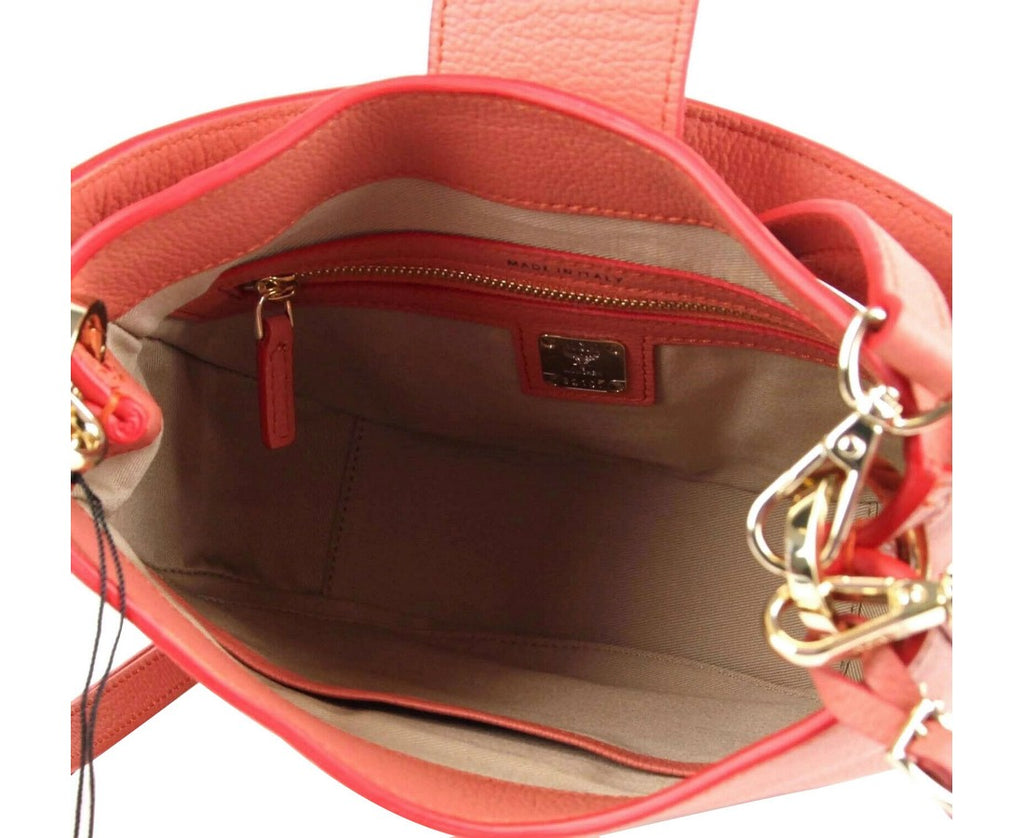 MCM Women's Trisha Cocoa Pink Leather Studded Small Crossbody Bag MWH8