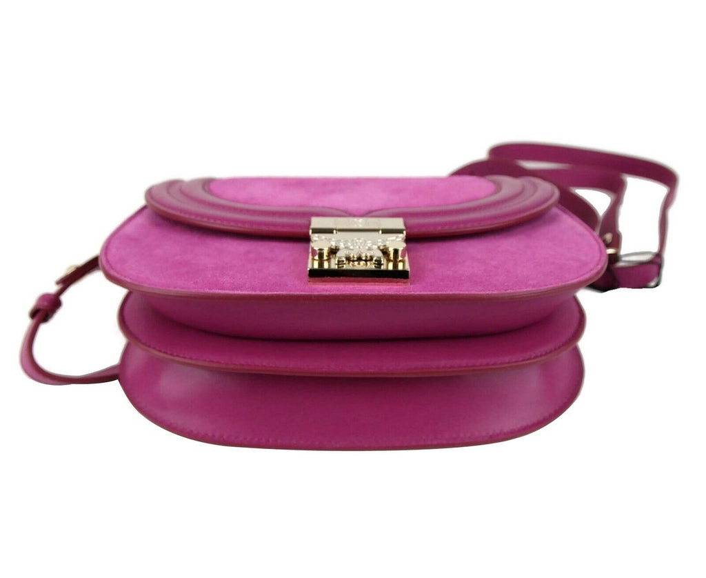 MCM Women's Trisha Viva Lilac Suede / Leather Crossbody Bag MWS8ATS94UK001 - LUX LAIR