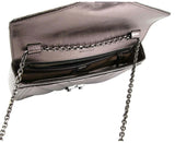 MCM Women's Metallic Leather Padlock Chain Crossbody Bag MWZ8AME32SB001 - LUX LAIR