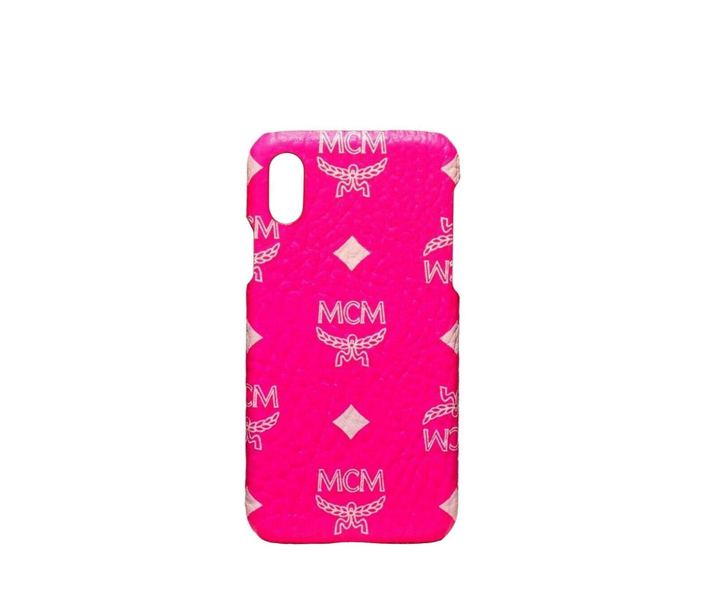 MCM Unisex Neon Pink Visetos IPhone X / XS Cell Phone Case MZE9AVI38QP001