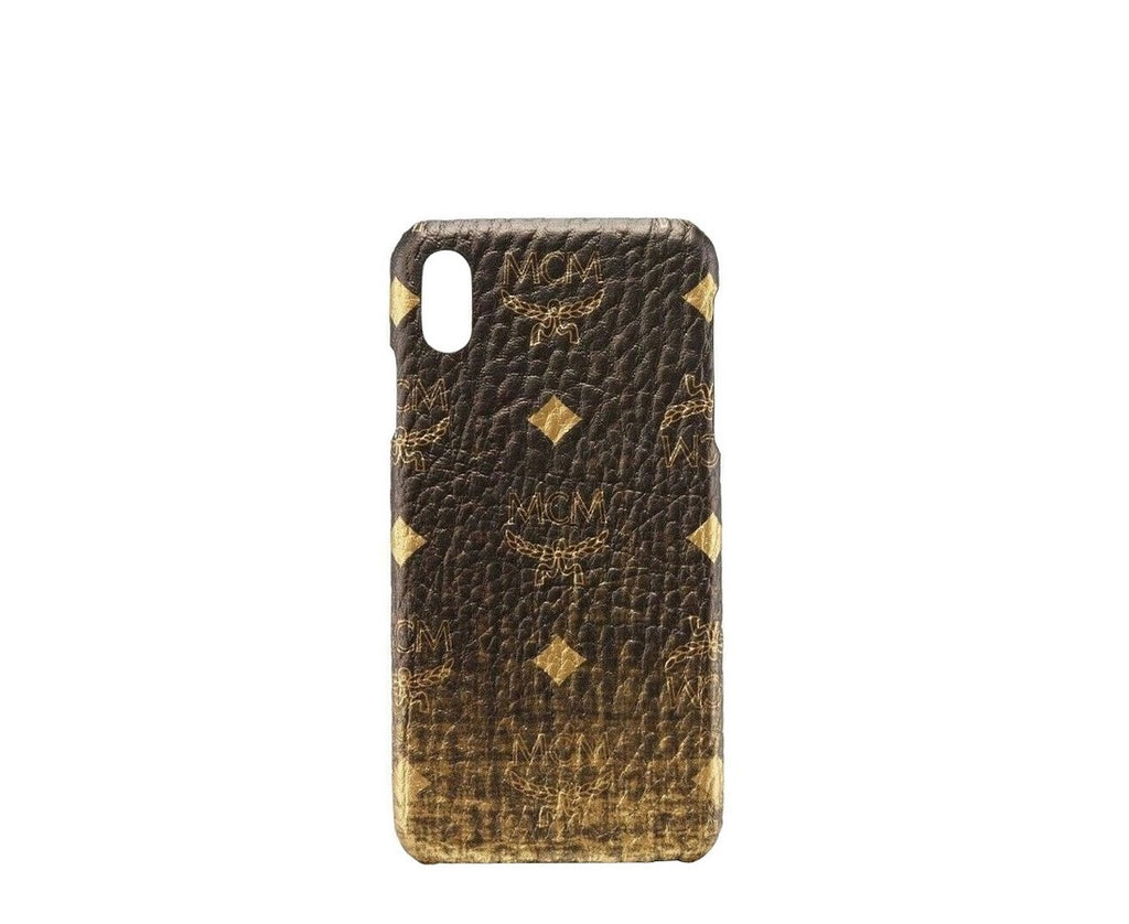 MCM Unisex Gold Gradation Visetos IPhone XS Max Cell Phone Case MZE9AVI49DG001
