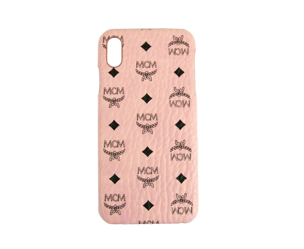 MCM Unisex Soft Pink Visetos iPhone XS Max Cell Phone Case MZE9AVI98PZ001