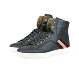 Bally Hi-top Sneakers Dark Grey Leather For Men