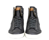 Bally Hi-top Sneakers Dark Grey Calf Leather