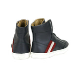 Bally Hi-top Sneakers Grey Calf Leather - Pair Back Look