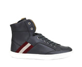 Bally Hi-top Sneakers Grey Calf Leather - Trendy Shoes