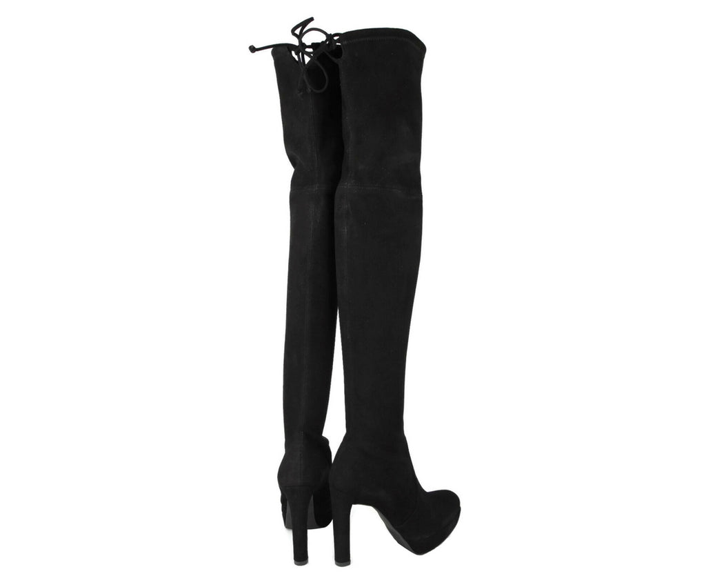 Stuart Weitzman Women's Plathighland Black Suede Over-the-knee Boot