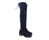 Stuart Weitzman Women's Vanland Dark Blue Suede Knee High Boots (39 / 8.5 M)