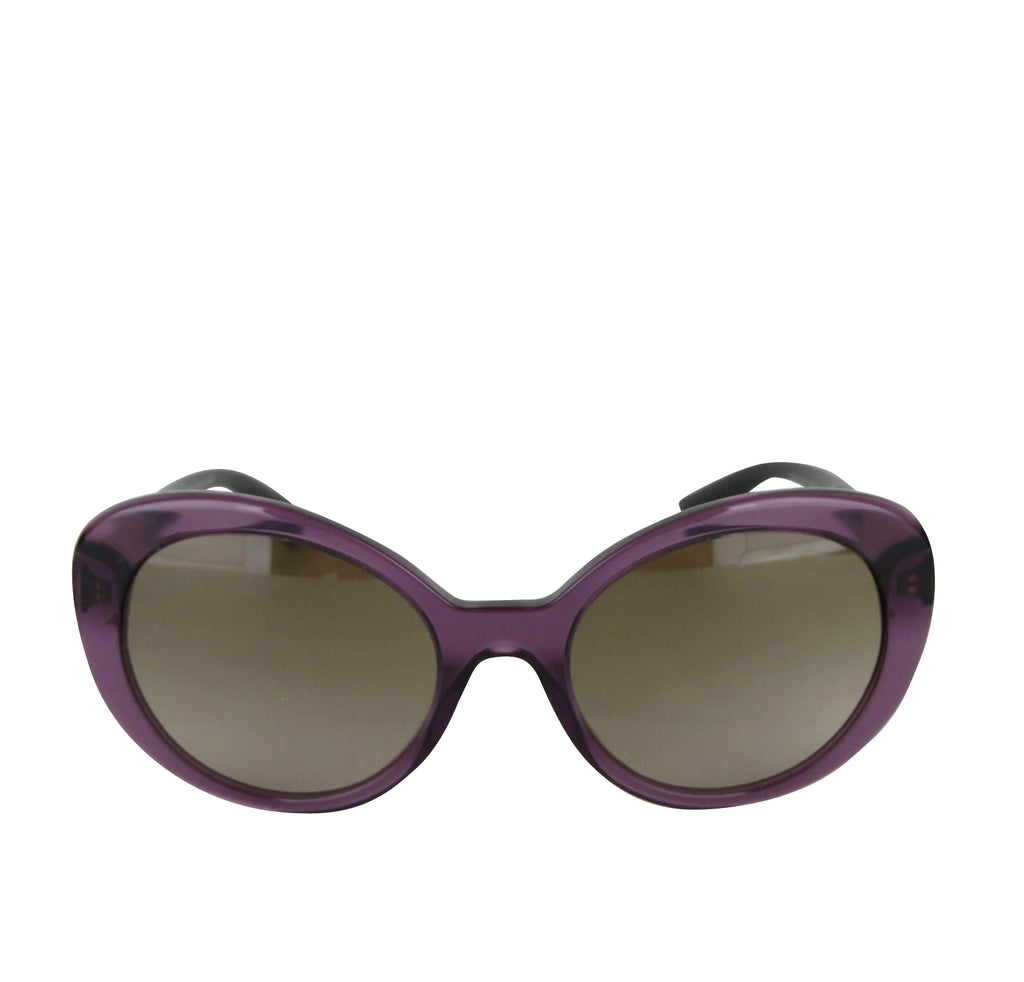 Versace Women's Gradient Transparent Violet Metal Oversized Sunglasses 4318 5029/13 - LUX LAIR
