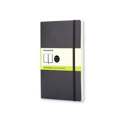 Moleskine Large Soft Cover Black Plain Notebook