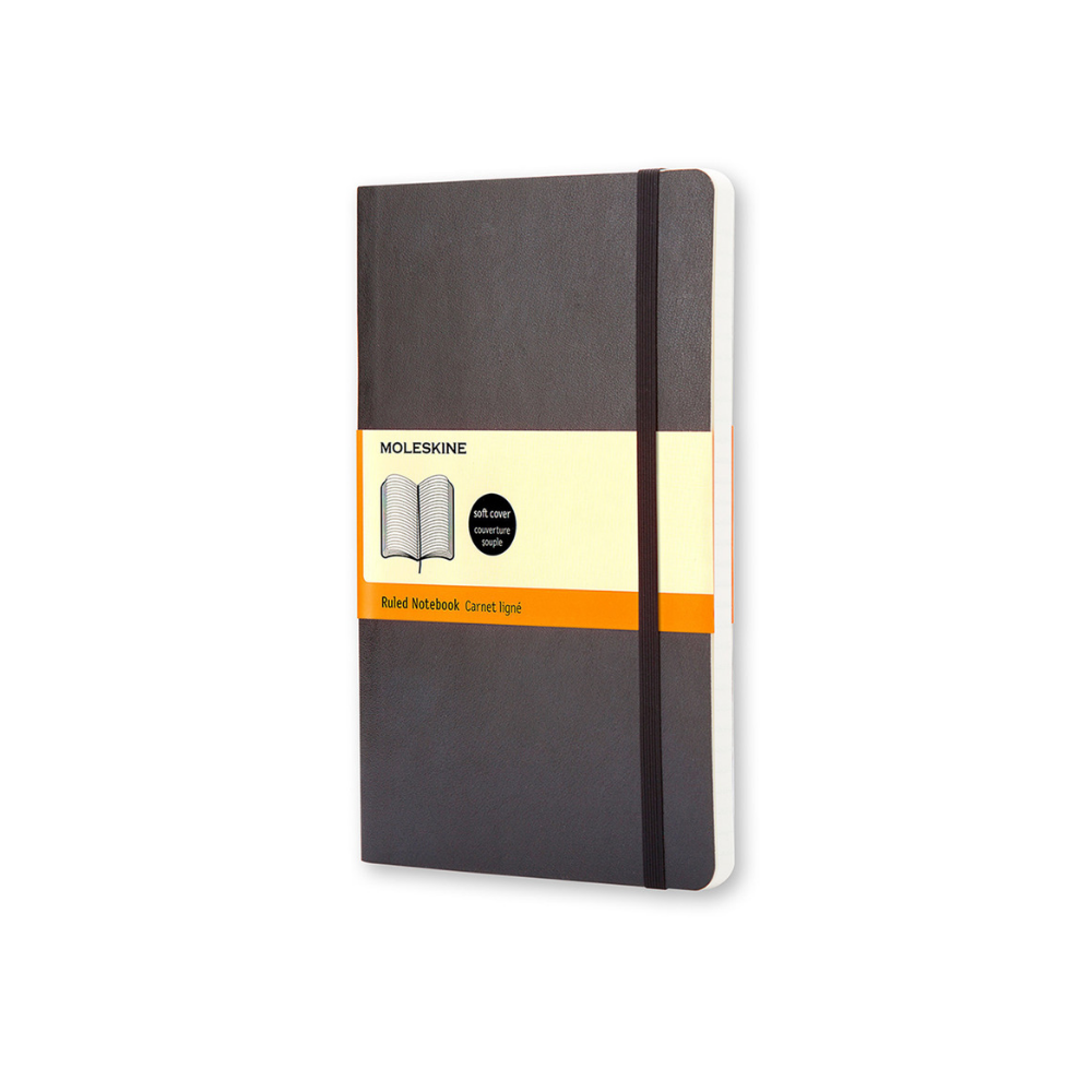 Moleskine Large Soft Cover Black Ruled Notebook