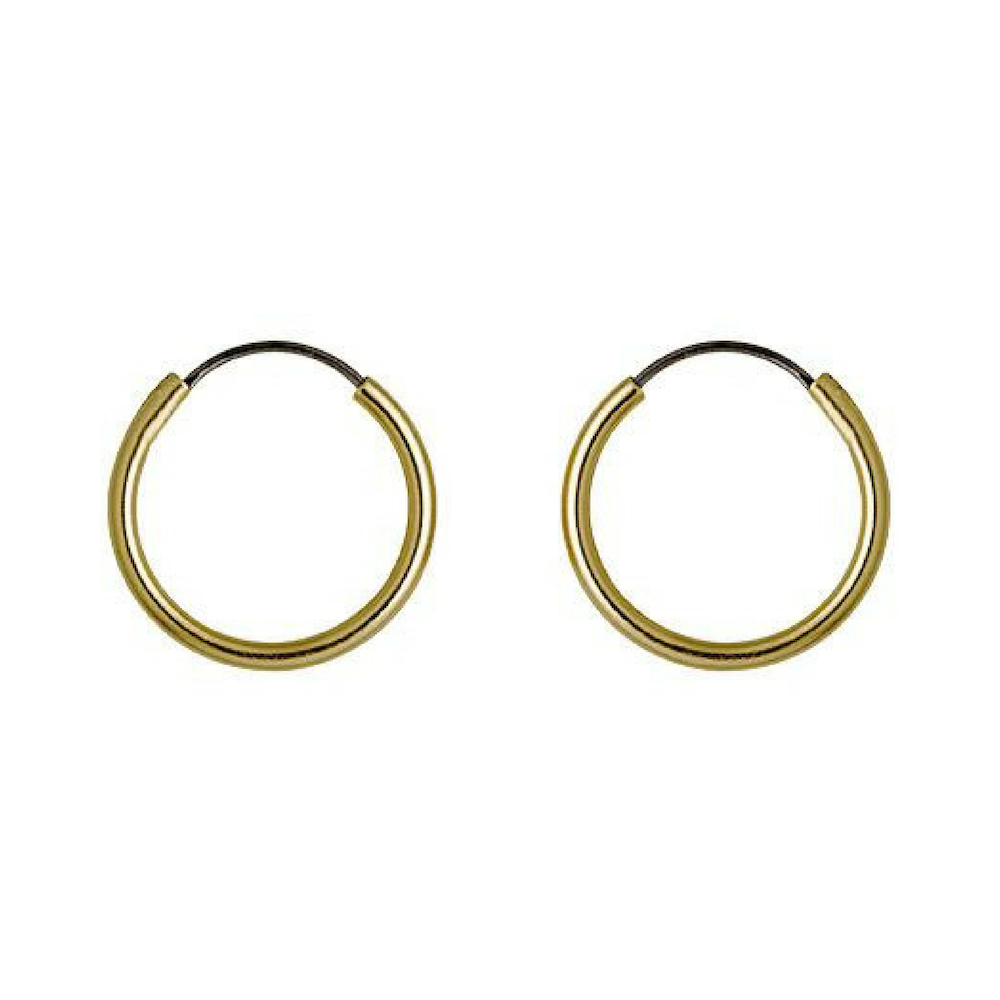 Sanne Gold Plated Hoop Earrings