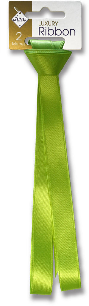 Lime Green Satin Ribbon