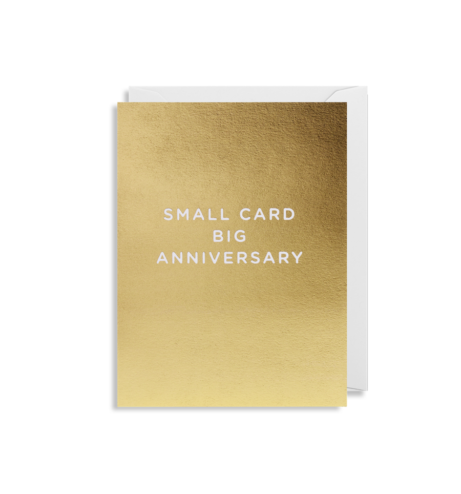 Small Card Big Anniversary